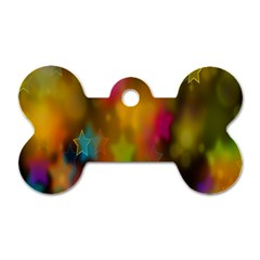 Star Background Texture Pattern Dog Tag Bone (one Side)