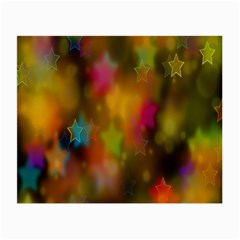 Star Background Texture Pattern Small Glasses Cloth (2 Side)