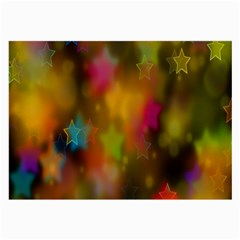 Star Background Texture Pattern Large Glasses Cloth