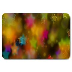 Star Background Texture Pattern Large Doormat