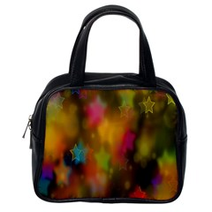 Star Background Texture Pattern Classic Handbags (one Side)