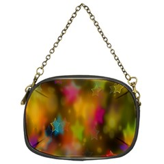 Star Background Texture Pattern Chain Purses (one Side)