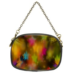 Star Background Texture Pattern Chain Purses (two Sides)