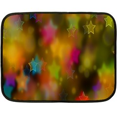 Star Background Texture Pattern Double Sided Fleece Blanket (mini)
