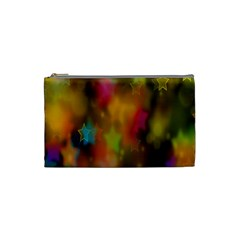 Star Background Texture Pattern Cosmetic Bag (small)