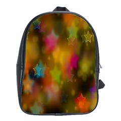 Star Background Texture Pattern School Bags(large)