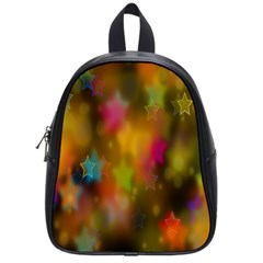 Star Background Texture Pattern School Bags (small)