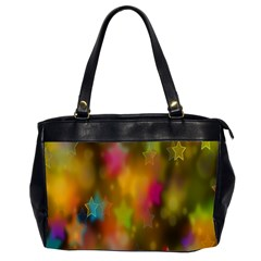 Star Background Texture Pattern Office Handbags (2 Sides)