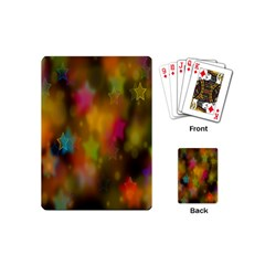 Star Background Texture Pattern Playing Cards (mini)