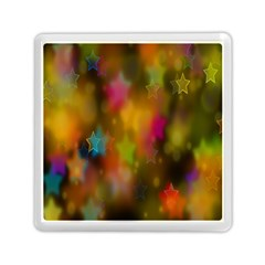 Star Background Texture Pattern Memory Card Reader (Square)