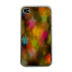 Star Background Texture Pattern Apple Iphone 4 Case (clear)