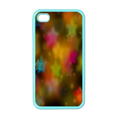 Star Background Texture Pattern Apple Iphone 4 Case (color)