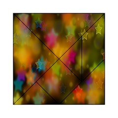 Star Background Texture Pattern Acrylic Tangram Puzzle (6  X 6 )