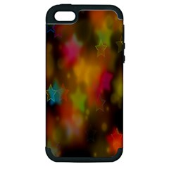 Star Background Texture Pattern Apple Iphone 5 Hardshell Case (pc+silicone)