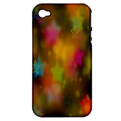 Star Background Texture Pattern Apple Iphone 4/4s Hardshell Case (pc+silicone)