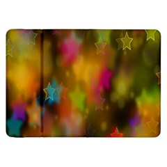 Star Background Texture Pattern Samsung Galaxy Tab 8 9  P7300 Flip Case