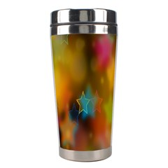 Star Background Texture Pattern Stainless Steel Travel Tumblers