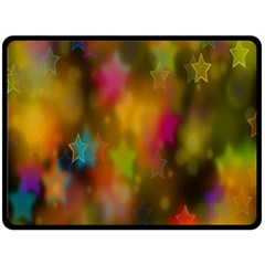 Star Background Texture Pattern Double Sided Fleece Blanket (large)