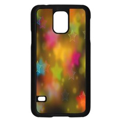 Star Background Texture Pattern Samsung Galaxy S5 Case (black)