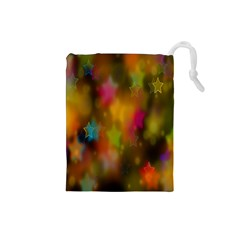 Star Background Texture Pattern Drawstring Pouches (small)