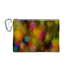 Star Background Texture Pattern Canvas Cosmetic Bag (m)