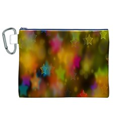 Star Background Texture Pattern Canvas Cosmetic Bag (xl)