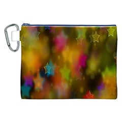 Star Background Texture Pattern Canvas Cosmetic Bag (xxl)