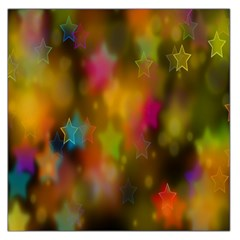 Star Background Texture Pattern Large Satin Scarf (square)