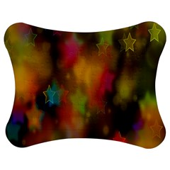 Star Background Texture Pattern Jigsaw Puzzle Photo Stand (bow)