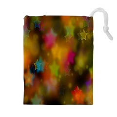 Star Background Texture Pattern Drawstring Pouches (Extra Large)