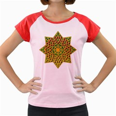 Star Pattern Tile Background Image Women s Cap Sleeve T-Shirt