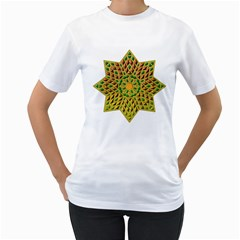 Star Pattern Tile Background Image Women s T Shirt (white) (two Sided)