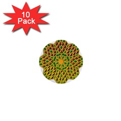 Star Pattern Tile Background Image 1  Mini Buttons (10 pack)
