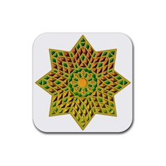 Star Pattern Tile Background Image Rubber Square Coaster (4 pack)