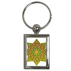 Star Pattern Tile Background Image Key Chains (Rectangle)