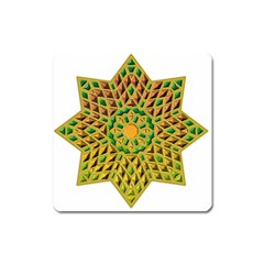 Star Pattern Tile Background Image Square Magnet