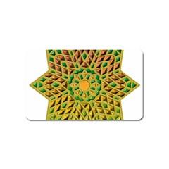 Star Pattern Tile Background Image Magnet (name Card)