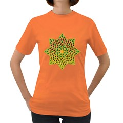 Star Pattern Tile Background Image Women s Dark T Shirt