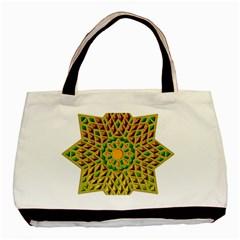 Star Pattern Tile Background Image Basic Tote Bag