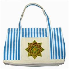 Star Pattern Tile Background Image Striped Blue Tote Bag