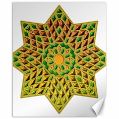 Star Pattern Tile Background Image Canvas 16  x 20