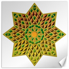 Star Pattern Tile Background Image Canvas 20  X 20