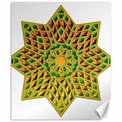 Star Pattern Tile Background Image Canvas 20  X 24
