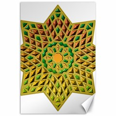 Star Pattern Tile Background Image Canvas 24  X 36
