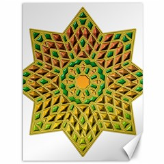 Star Pattern Tile Background Image Canvas 36  X 48