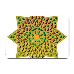 Star Pattern Tile Background Image Small Doormat
