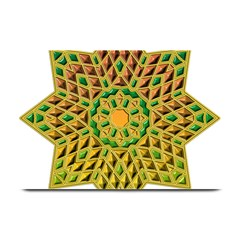 Star Pattern Tile Background Image Plate Mats
