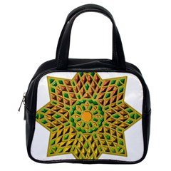 Star Pattern Tile Background Image Classic Handbags (one Side)