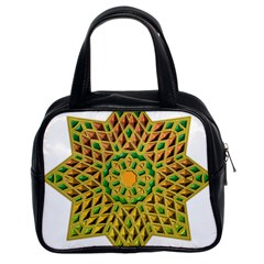 Star Pattern Tile Background Image Classic Handbags (2 Sides)
