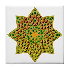 Star Pattern Tile Background Image Face Towel